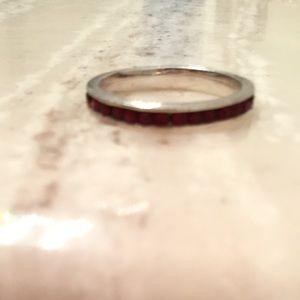 Garnet band ring